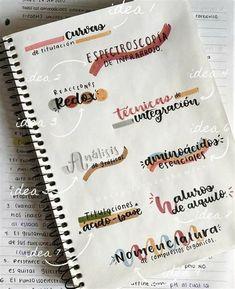 Bullet Journal Lettering Ideas, Bullet Journal Banner, Bullet Journal Notebook, Bullet Journal Ideas Pages, Bullet Journal Inspiration, Book Journal, Bullet Journal School, School Organization Notes, School Notes
