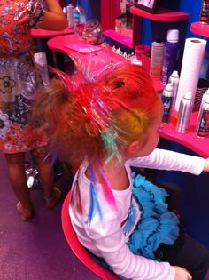 Tomorrow is Wacky Hair Day.....think I could do this!