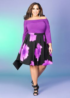 Purple Bloom #slimmingbodyshapers   Hot stuff Big beautiful curvy real women, real sizes with curves, accept your body sizes, love yourself no guilt, plus size, body conscientiousness fashion, slimmingbodyshapers.com   embraces you!