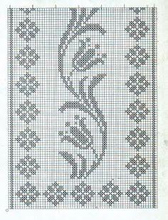 Crochet on Stylowi. Cross Stitch Bookmarks, Cross Stitch Borders, Cross Stitch Designs, Cross Stitching, Cross Stitch Embroidery, Cross Stitch Patterns, Crochet Curtains, Crochet Cushions, Crochet Tablecloth
