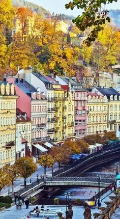 The beautiful city of Karlovy Vary in the Czech Republic.