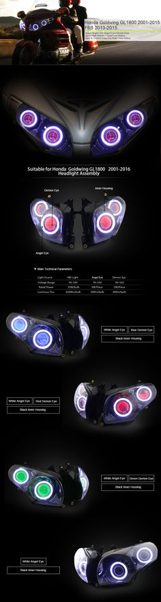 Headlight Assembly for Honda Goldwing GL1800 2001-2016