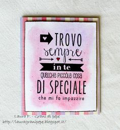Grani di pepe: Sentiment card