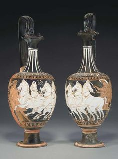 TWO APULIAN RED-FIGURED OINOCHOAI ATTRIBUTED TO THE STUTTGART GROUP, CIRCA 330-310 B.C.