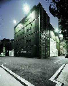 Platoon Cultural Development is an organization founded in Berlin as think tank and gathering space for people involved street art, video art, club culture, political activism, fashion and other creative subcultures. Its Seoul chapter is headquartered in an URBANTAINER designed building comprised of 28 ISO cargo containers spread over three falls. The structure's cool industry character certainly suits its purposes well.