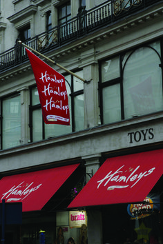 Hamleys flag outside their store in London International Flags, Buy Flags, Banners, The Outsiders, Public, British, Things To Come, London, Store