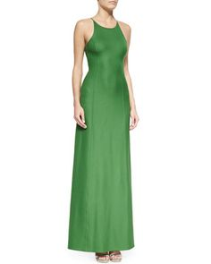 Open-Back Satin Gown, Lawn by Michael Kors at Neiman Marcus.