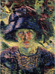Boccioni, Umberto (1882-1916) - 1911 Portrait of a Woman (Christie's Milano) #TuscanyAgriturismoGiratola