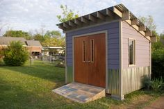 Carrie's purple shed by Space Lift Woodworking & Remodeling in Nashville, TN