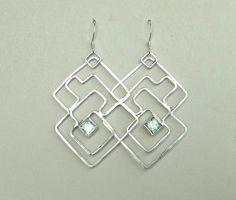 mint green garnet earrings