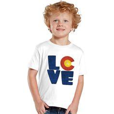 Love Colorado kids shirt by shirtsbynany on Etsy Funny Kids Shirts, Shirts For Girls, Love My Kids, Cute Kids, Glitter Girl, Matching Shirts, Long Sleeve Bodysuit, Baby Bodysuit, Workout Shirts