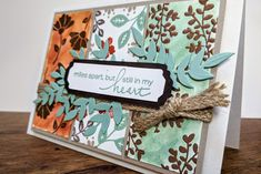 sally can craft: Miles apart but still in my heart... Miles Apart, Cardmaking And Papercraft, My Stamp, Diy Cards, Be Still, Sally, My Heart, Stampin Up, Card Making