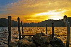 Atardecer en la laguna de Ipala