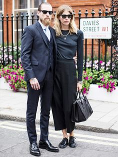 all black // is this the most chic couple ever, or what?