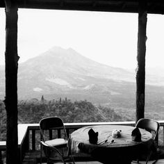 Or you can just eat lunch overlooking Mount Batur, a live volcano.