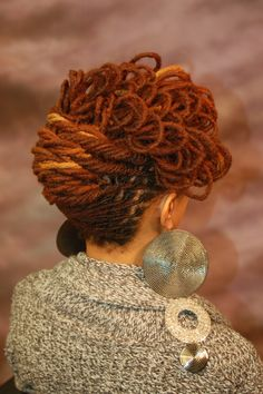 Locs: Care, Maintenance and Styles...I don't want locks, but that color is fabulous!