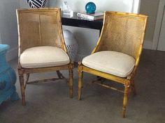 vintage hollywood regency chairs
