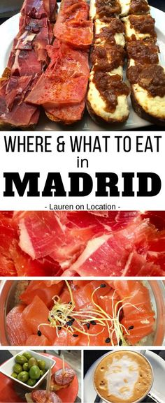 to eat in Madrid Spain. Find out where to taste all of Spain's classics in the bustling city of Madrid! Madrid Travel, Ibiza, Spanish Food, Spanish Cuisine, Spanish English, Spain And Portugal, European Travel, European Vacation, Spain Travel