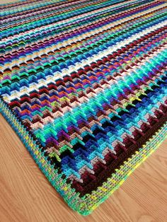 Scrap Yarn Stash-Buster Blanket Free Crochet Pattern – Crochet Instinct