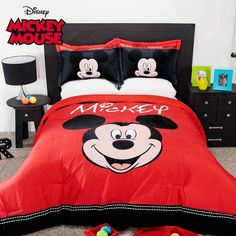 Disney Mickey Mouse Classic Red Comforter Shams Set New Boys Home Bedding Decor