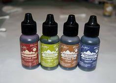 Alcohol Inks are found in the stamping and scrapbook section of craft supply stores under the name of Tim Holtz Ranger Brand Adirondack Alco...