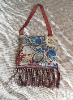 Vintage, Fringed Scarf Shoulder Bag, Easy to Make!