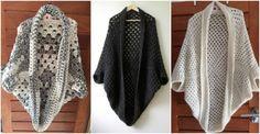 Granny Cocoon Shrug Crochet Pattern