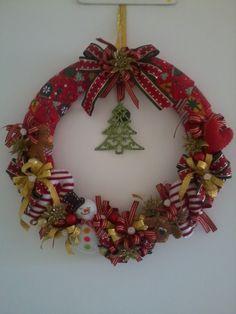 Christmas wreath (Guirlanda de Natal) by Ateliê Silvana Ramos.