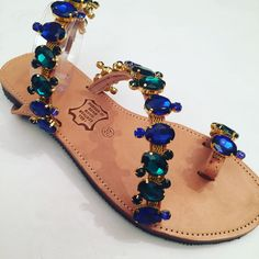 Handmade leather sandals by Bliss Follow us on Facebook  Bliss_jewels_greece