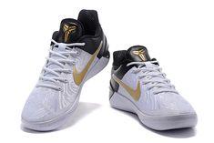 "f0ae567205c1 Nike Kobe A.D. ""BHM"" White Black-Metallic Gold Free Shipping"