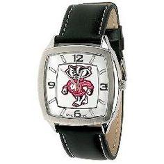 University of Wisconsin Badgers Men's Vintage Style Retro Watch