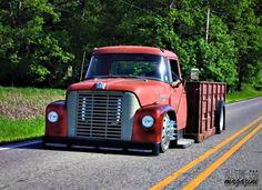 Custom big truck International Harvester slammed on the ground