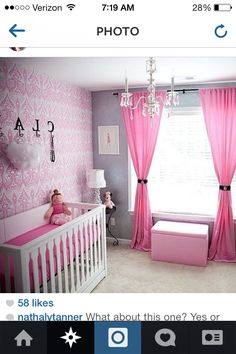 Nursery ideas. Pink & grey