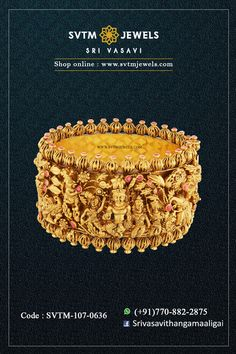 This divine and auspicious yellow bangle with Lord Ganesha and Murugan is a rare treasure. The Nagaas finish adds to the tantalizing antique look of this beautiful and traditional wrist adornment. Shipping across India and USA. Gold Bangles Design, Jewelry Design, Nose Ring Jewelry, Gold Temple Jewellery, Ritika Singh, Indian Wedding Wear, Indian Architecture, Lord Ganesha, Kurta Designs