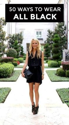 How to Wear Black! Find the best fashion advice on how to stye an all-black outfit!: