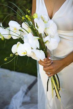 White phalaenopsis orchid bouquet | Luxe Weddings & Events