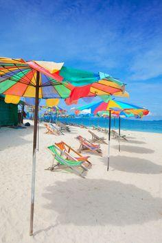 Idyllic beach scene