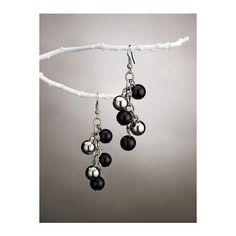 Ulla Popken Women's Multi Bead Drop Earrings