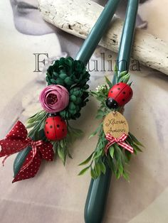 Clio Style, Baptism Candle, Palm Sunday, Candle Making, Easter Crafts, Christening, Diy And Crafts, Projects To Try, Christmas Decorations