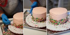 Comment glacer un gâteau comme une pro par www.johaniecreative.ca // How to ice a cake like a pro by Johanie Creative