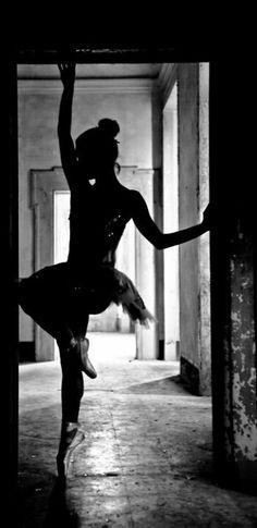 Beautiful ballet silhouette