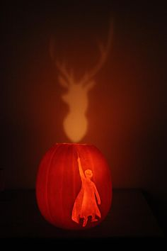 Someone carved this for Halloween... Expecto Pumpkin!