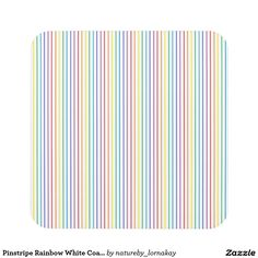 Pinstripe Rainbow White Coasters
