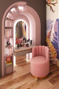 Luxury Kids Bedroom, Room Design Bedroom, Girl Bedroom Designs, Room Ideas Bedroom, Home Room Design, Home Decor Bedroom, Home Interior Design, House Design, Dressing Room Design