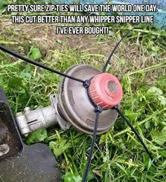 Just a little pro tip if any body finds out do weed eater string today 😂😂 Simple Life Hacks, Useful Life Hacks, Lawn And Garden, Garden Tools, 1000 Life Hacks, Lawn Maintenance, Hacks Diy, Lawn Care, Diy Projects To Try