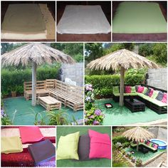 Outdoor pallets Sofa #Lounge, #Outdoor, #Pallets, #Reclaimed, #Sofa