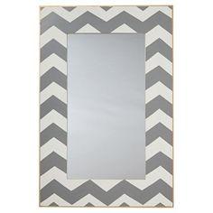 Check out this item at One Kings Lane! Bargello Chevron Mirror, Gray