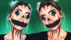 Glam JACK O' LANTERN Halloween Makeup Look - YouTube