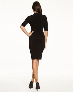 Little Black Dresses - The little black dress - a classic that never gets old. Shop for dresses at Le Chateau. Lbd, High Neck Dress, Dresses For Work, Shopping, Black, Style, Fashion, Turtleneck Dress, Swag