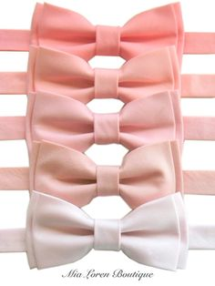 el cuarto empezando desde abajo!!    Pink Bow Ties for Men or Boys, Blush, Light Pink, Peach Pink, Medium Pink, Fuchsia Pink, Magenta, Rose, Bubblegum Pink, Made in the USA